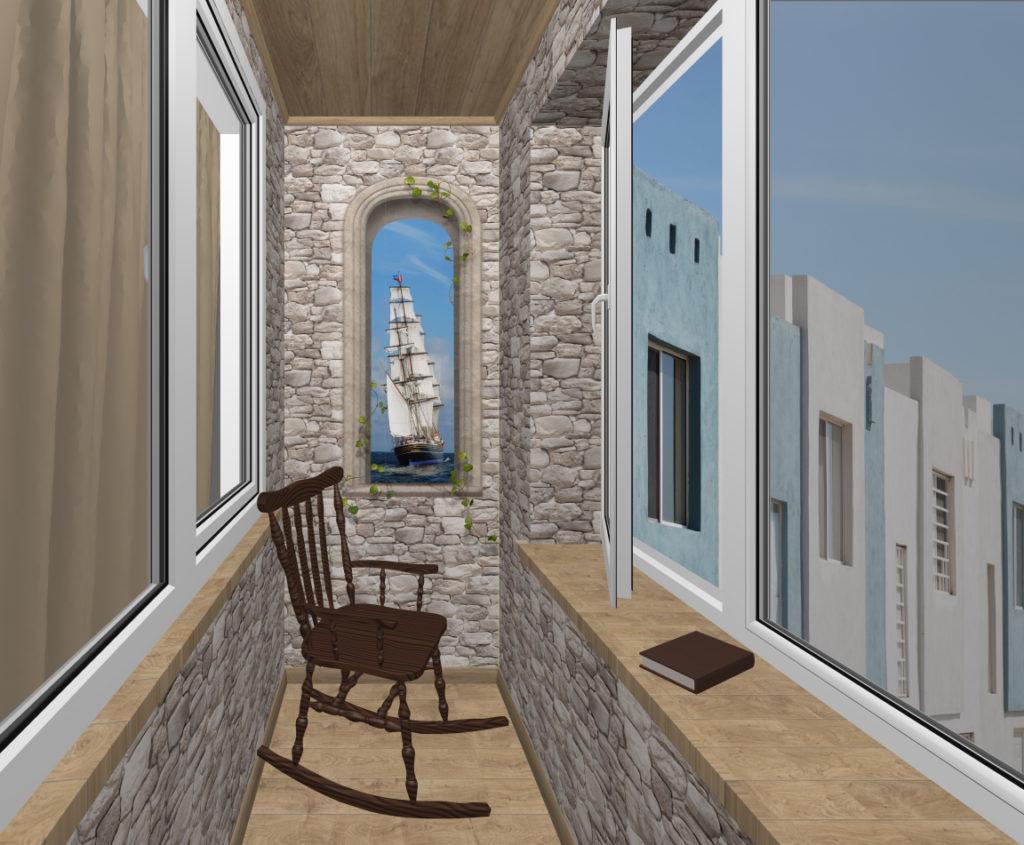 балкон антика