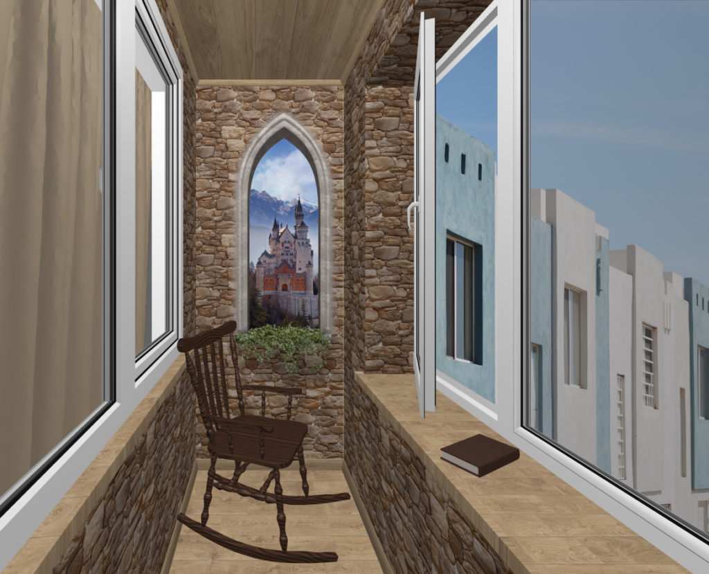 балкон готика