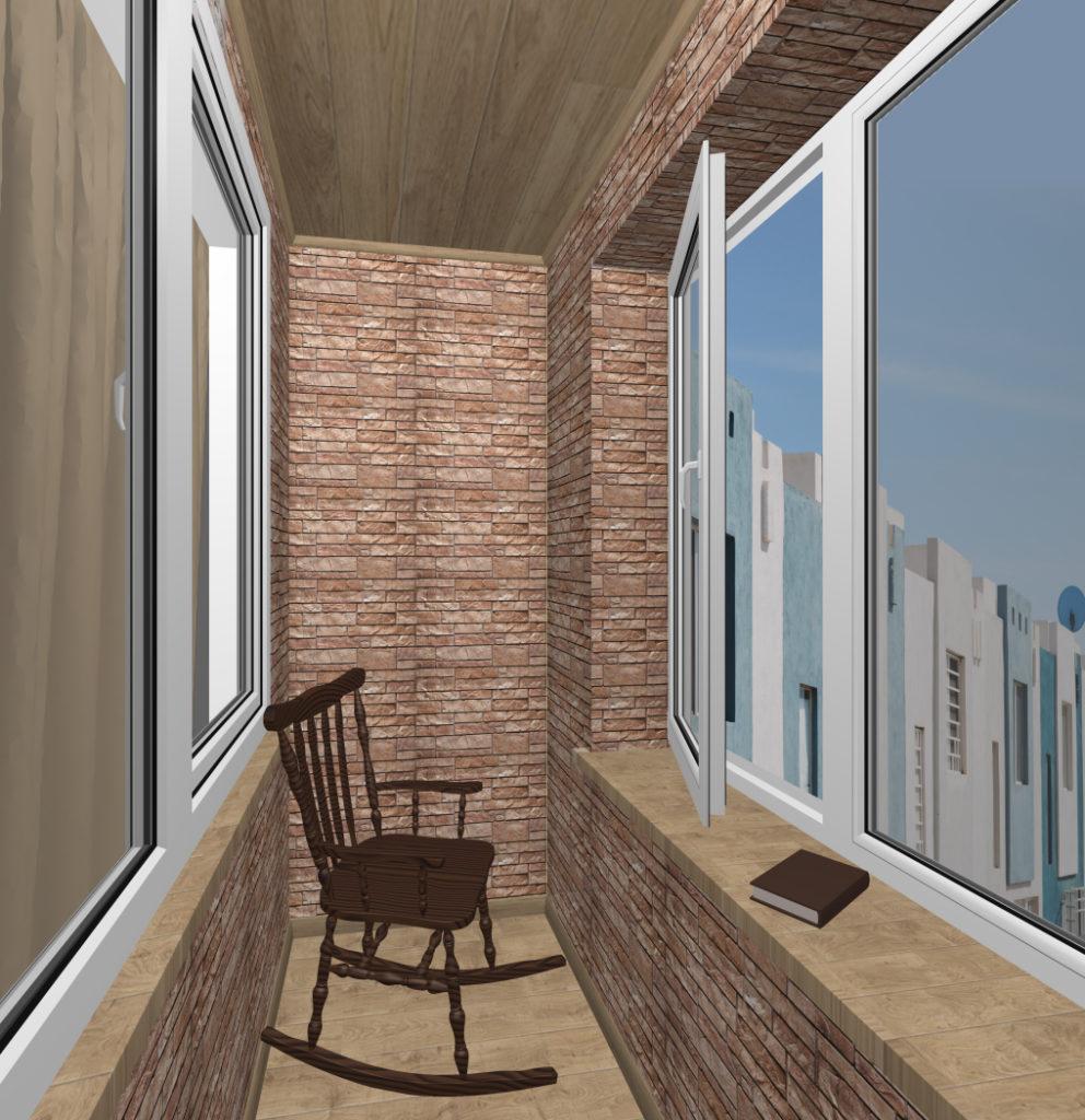 балкон каменная кладка